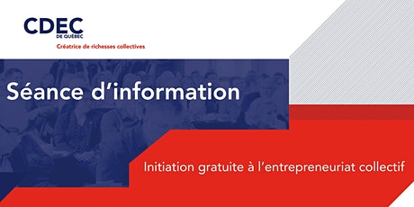 Initiation à l'entrepreneuriat collectif billets