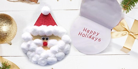 Donation! 45min Santa Claus Cotton Card Crafting  @2PM (Ages 4+) tickets