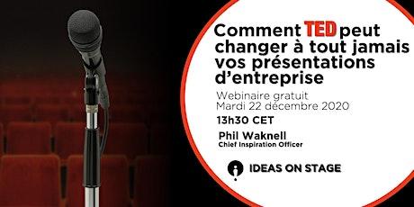Comment TED peut changer vos présentations d'entreprise - Webinaire gratuit billets