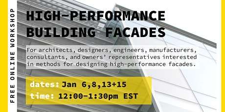 High-Performance Building Facades - Free Online Workshop tickets