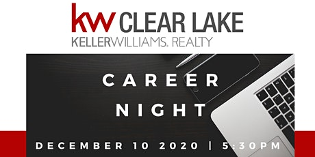 December Career Night at Keller Williams Clear Lake tickets
