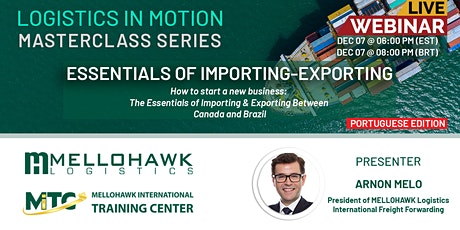 Essentials of importing-exporting between Canada and Brazil (Portuguese Ed) tickets
