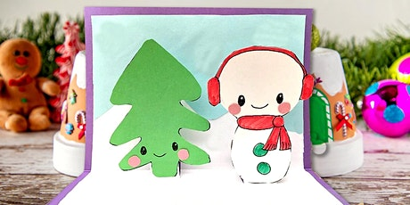 Donation! 45min Popup Snowman Cardmaking Crafting  @2PM (Ages 4+) tickets