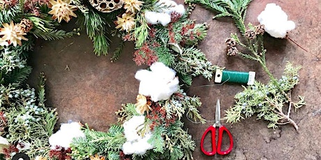 Holiday Wreath Making Class with beloved florist, Sharla Flock tickets