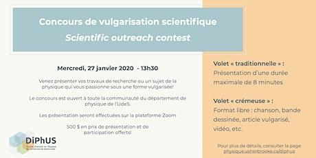 Concours de vulgarisation en physique: inscriptions billets