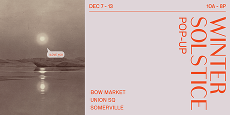 Winter Solstice Pop-Up (Holiday Market) tickets