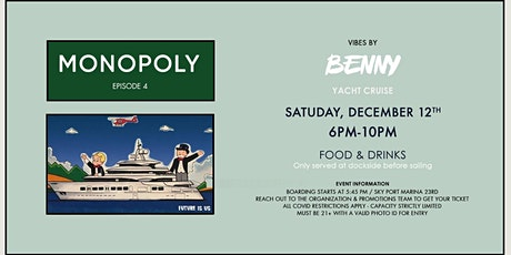Monopoly Hip Hop Yacht Cruise 12.12 tickets