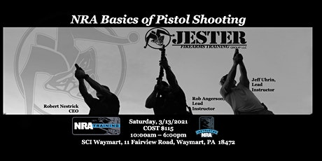 JESTER Group Pistol 1: NRA Basics of Pistol Shooting tickets