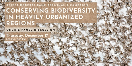 Conserving Biodiversity in Heavily Urbanized Regions - Panel Discussion tickets