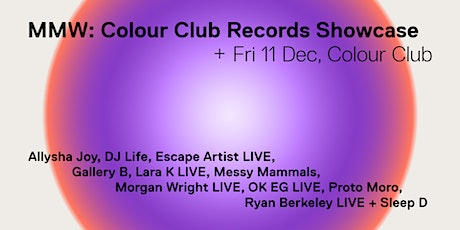 Colour Club Records x MMW tickets
