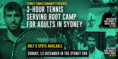 3-hour Tennis Serving Boot Camp For Adults tickets