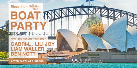 Blueprint  Boat party with  THE BREAKFAST CLUB (Melbourne) tickets