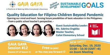 GAIA GAYA #12: Quality Education for Filipino Children Beyond Pandemic tickets