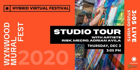 3:05 LIVE // Studio Visits with Artists RISK, Adrian Avila, and MECRO tickets