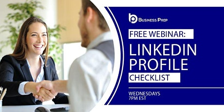 Business Prep - LinkedIn Profile Webinar biglietti