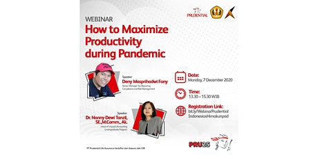 """Webinar """"How to Maximize Productivity during Pandemic"""" tickets"""