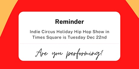 Holiday Hip Hop In Times Square tickets