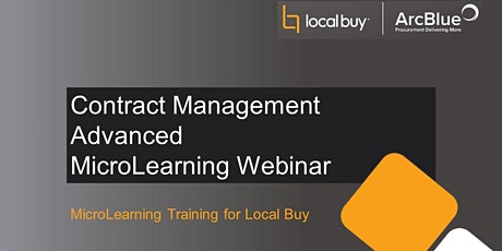 Contract Management Advanced MicroLearning Webinar tickets