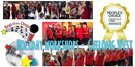 Bop till you Drop GEELONG WEST School Holiday Performance Workshop (2 days) tickets