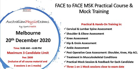 Face to Face MSK Clinical Preparation and Mocks tickets