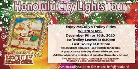 Holiday Trolley Rides to see the Famous Honolulu City Lights tickets