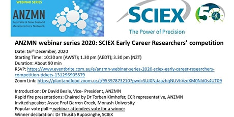 ANZMN webinar series 2020: SCIEX Early Career Researchers' competition tickets