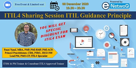 ITIL4 Sharing session ITIL guidance principle tickets
