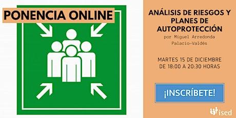 Ponencia: Análisis de riesgos y planes de autoprotección entradas