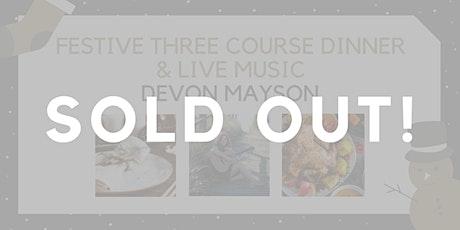 Festive Three Course Dinner with Devon Mayson tickets