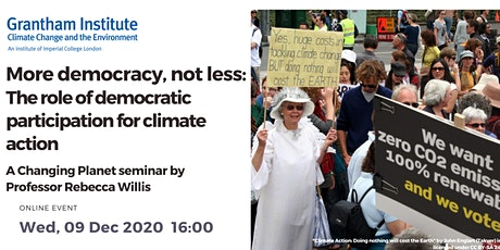 The Role of Democratic Participation for Climate Action tickets