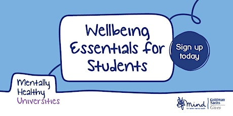 Wellbeing Essentials for Students tickets
