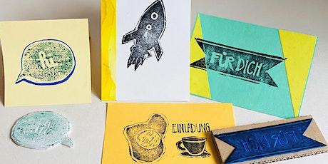 Online-Workshop | Druckwerkstatt I Für 6- bis 14-Jährige Tickets
