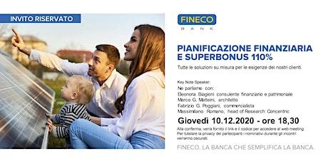 PIANIFICAZIONE FINANZIARIA E SUPERBONUS 110% biglietti