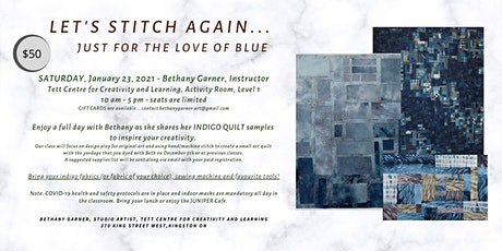 LET'S STITCH AGAIN - For the Love of Blue (rescheduled from Dec 6th, 2020 ) tickets
