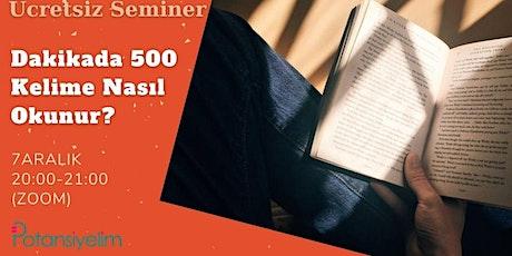 Dakikada 500 Kelime Nasıl Okunur? tickets