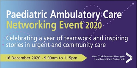 Paediatric Ambulatory Care Networking Event 2020 tickets