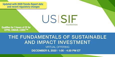 Virtual Training: Fundamentals of Sustainable and Impact Investment tickets