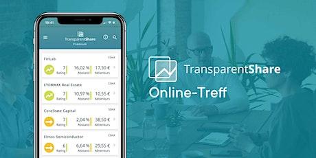 TransparentShare Online-Treff Tickets