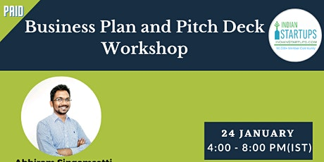 Business Plan and Pitch Deck Workshop tickets