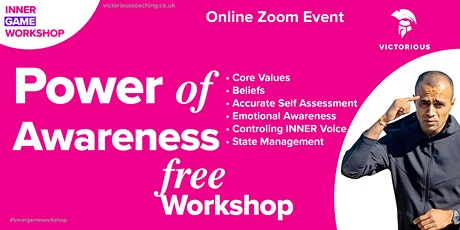 POWER of Awareness  - INNER Game Workshop Tickets