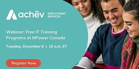 Free IT Training Program at NPower Canada tickets