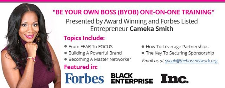 BOSS Coaching Session W/ Cameka Smith: (Register To Confirm Date) image