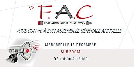 Assemblée générale annuelle/ Formation en Alphabétisation de Charlevoix billets