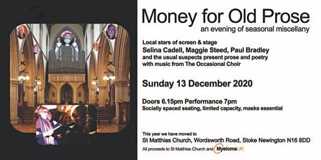 Money for Old Prose (tickets for two person bubble) tickets