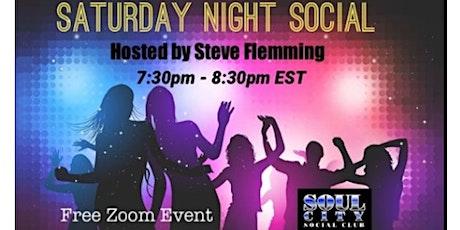 **Saturday Night Social** (This Saturday Night) (Free on Zoom) tickets