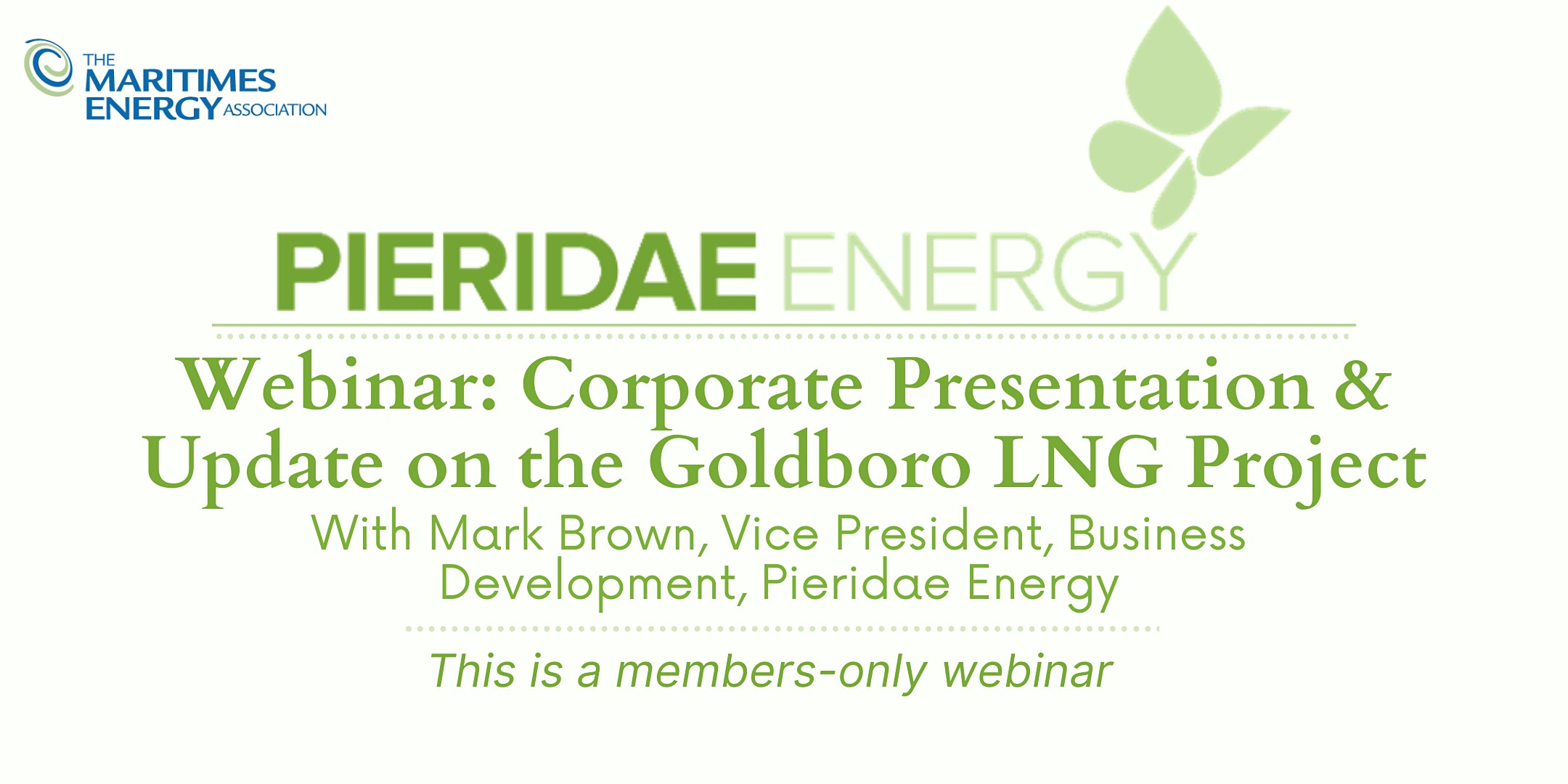 Pieridae Energy Corporate Presentation & Update on the Goldboro LNG Project