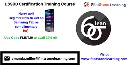LSSBB Certification Training Course in Cypress, CA tickets