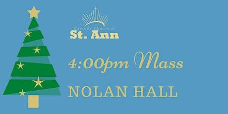 Nolan Hall, 4:00pm Mass tickets