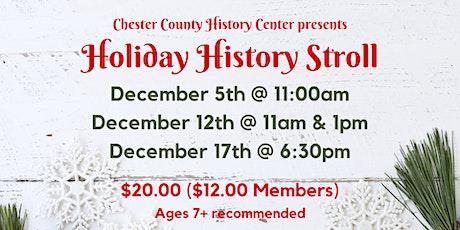 Holiday History Stroll tickets