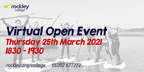 Rockley College Open Event March 2021 tickets